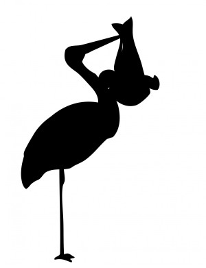 stork-with-baby-silhouette